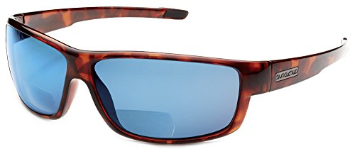 Suncloud Voucher Polarized Bi-Focal Reading Sunglasses in Tortoise w/ Blue Mirror Lens - Polarized Voucher Suncloud Sunglasses