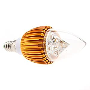 Driver Dimmable E14 4W 320-360LM 6000-6500K Natural White Light Golden Shell LED Candle Bulb (85-265V)