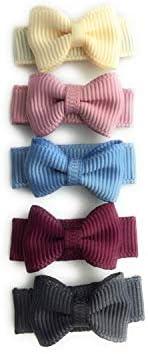 Baby Wisp Small Snap Tuxedo Grosgrain Bows 5 Pack Victorian Tea