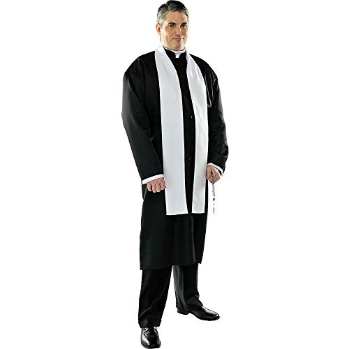 AMSCAN Priest Halloween Costume for Men, Plus Size, with Included Accessories