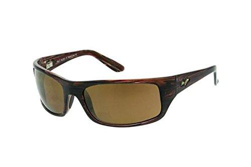 Maui Jim Peahi H202-10   Polarized Oval Sunglasses, Burgundy Tortoise, One ()