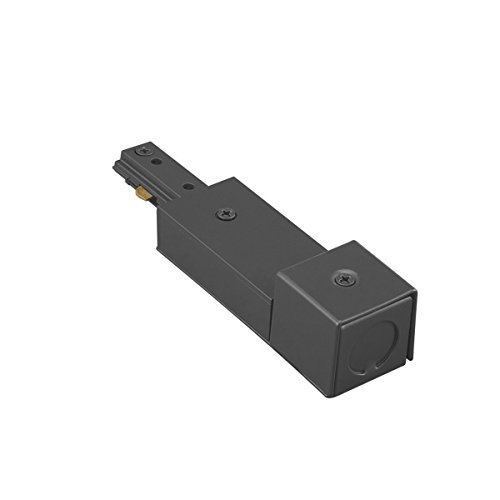 Feed Power Track Accessory - WAC Lighting HBXLE-BK H Track Live End BX Connector, Black