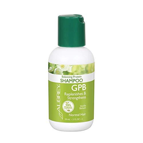 Aubrey GPB Balancing Protein Shampoo | Replenishes, Strengthens & Nourishes Damaged Hair | Aloe & Shea Butter | 75% Organic Ingredients | 2oz (Gpb Glycogen Protein Balancing Shampoo)