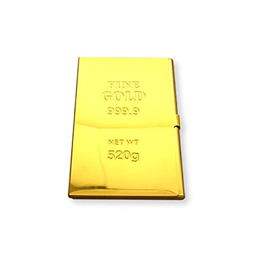 Gold Bar Style Aluminum Business Name Card Holder For Men & Women (Gold Bar Boxes compare prices)