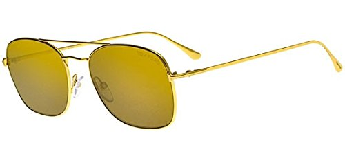 Tom Ford LUCA-02 FT 0650 Gold/Gold Brown 55/18/145 Unisex Sunglasses