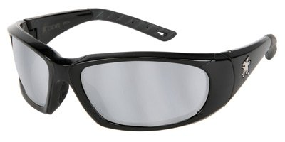 Crews Force Flex Next Generation Ultra-Flexible Safety Glasses With Silver Mirror Lens by Crews Safety Products