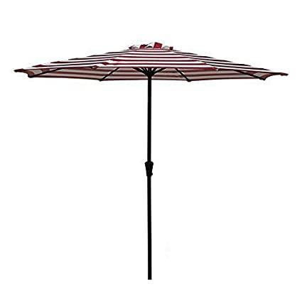 Attirant COBANA Patio Umbrella,Outdoor Table Market Striped Umbrella With Push  Button Tilt/Crank,