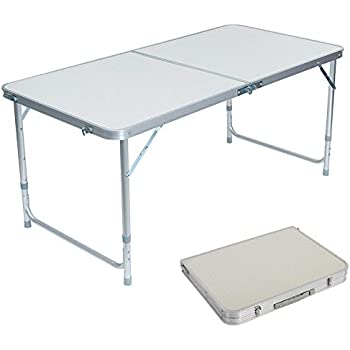 Amazon Com Lovinland Aluminum Folding Table Portable
