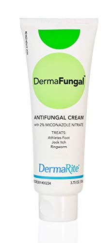 Athlete's Foot Antifungal Cream - Treats Jock Itch, Ringworm and Dry Itchy Skin - 2% Miconazole Nitrate - Latex Free, Dermatologist Tested, 3.75 Oz - DermaFungal by DermaRite