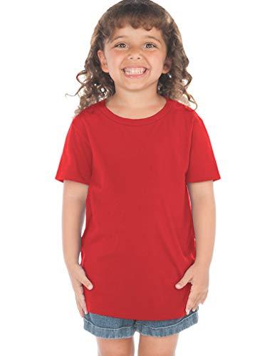 Kavio! Toddlers Crew Neck Short Sleeve Tee (Same TJP0494) Red 3T (T-shirts Toddler Hip)