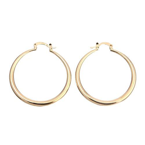 Followmoon 18K Gold Plated Womens Hoop Earrings Sparkling Styles