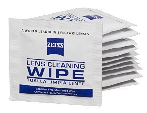 Zeiss Pre-moistened Lens Cleaning Wipes (120 Wipes)