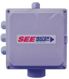 See Water Junction Box 6''x6''x4'' Polycarbonate for Simplex Pump System (1.5'' Hub, 3 float grips, 1 small pump grip: .2'' - .44'')
