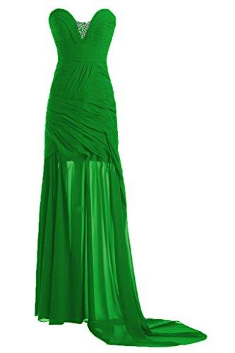 ivyd ressing Mujer Fácil funda de línea de corazón Recorte Prom vestido fijo para vestido de noche Verde
