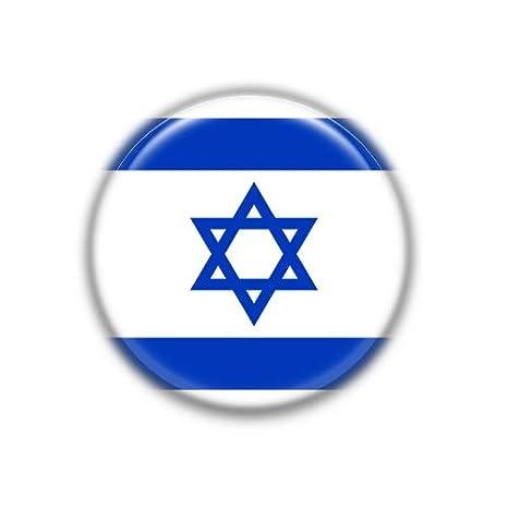 Amazon.com: Israel : bandera nacional, insignia de botón de ...
