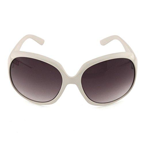 surdimensionnés de soleil de nbsp;mm Blanc inclinées miroir verres avec 64 papillon Lunettes qOBxwnO