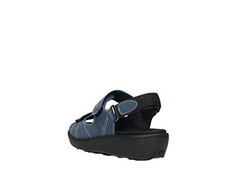 Comfort Wolky Lin Denim Nubuck 10821 Bleu Sandales dngwTBnO