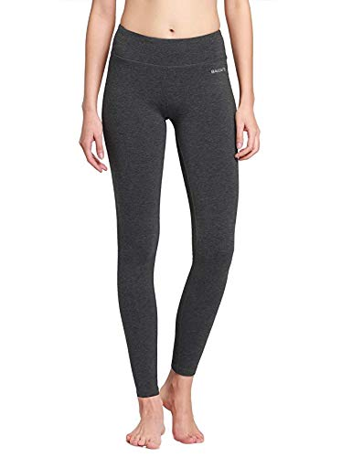 (Baleaf Women's Ankle Legging Yoga Pants Inner Pocket Non See-Through Charcoal Size M)