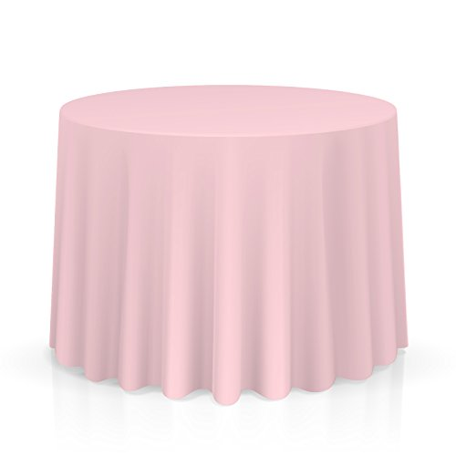 "Lanns Linens 90"" Round Premium Tablecloth for Wedding/Banque"