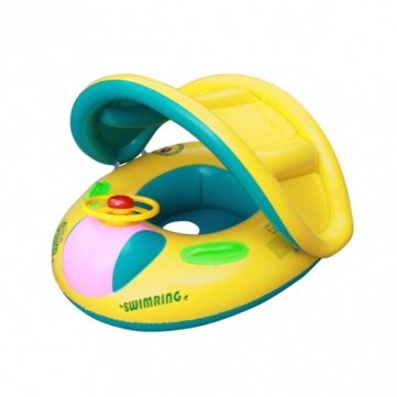 Baby Float Seat Boat Tube Ring Car Sun-shade Swimming Ring
