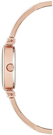 Anne Klein Women's AK/2216BLRG Swarovski Crystal-Accented Rose Gold-Tone and Blush Pink Bangle Watch WeeklyReviewer