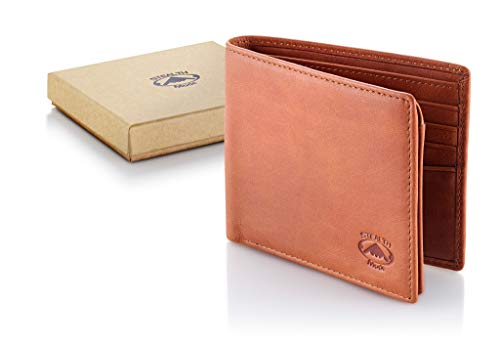 Stealth Mode Leather Bifold Wallet for Men With ID Window and RFID Blocking (Beige) by Stealth Mode (Image #4)