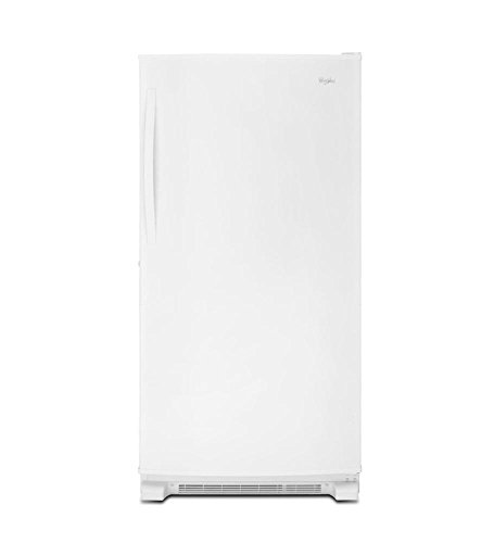 White Whirlpool 20 Cu. Ft. Upright Freezer With Temperature Alarm - 20 Cubic Foot Freezer