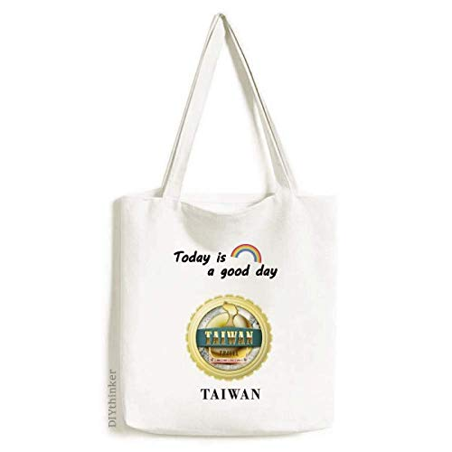 Logo Taiwan Dragon Boat Race Tote Canvas Bag Craft Washable Fashion Shopping Handbag Boys Slim Boat Races