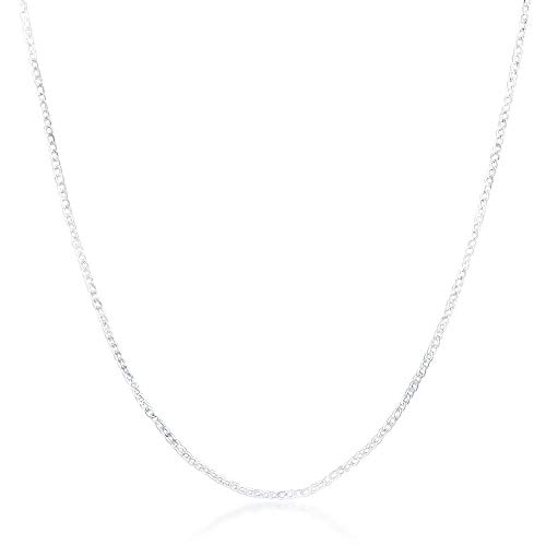 LiLiMeng New Fashion 2mm Flat Oblate Snake Silver Chain Jewelry Necklace 20inch