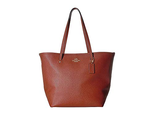 (COACH Women's Crossgrain Large Street Tote Terracotta One Size )