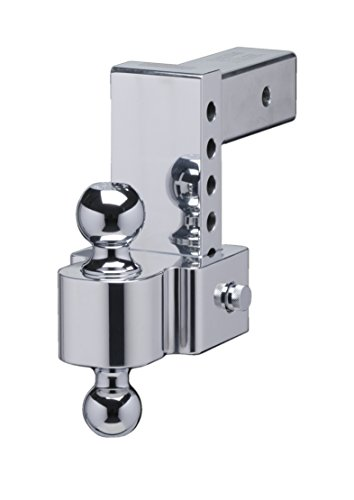 Fastway FLASH 42-00-2625 E Series HD Adjustable Aluminum Ball Mount with 6 Inch Drop, 2.5 Inch Shank, and Chrome Plated Balls ()
