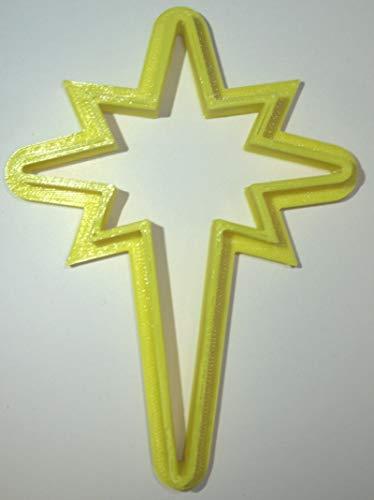 BETHLEHEM STAR NATIVITY SCENE CHRISTMAS GOSPEL OF MATTHEW JERUSALEM WISE MEN SPECIAL OCCASION COOKIE CUTTER BAKING TOOL 3D PRINTED MADE IN USA PR886