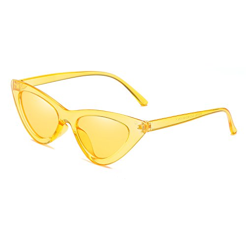 New Cat Fashion Green Eye Sunglasses Small Frame Blue Reb Sun Lens Size UV400 Eyewear Triangle Yellow Women Glasses Transparent ptBxrtynwq