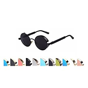 Steampunk Fashion Sunglasses NYC (Black, Multicolored)