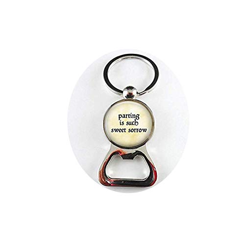- lukuhan Shakespeare Quote - Parting is Such Sweet Sorrow - Romeo and Juliet Pendant Bottle openers
