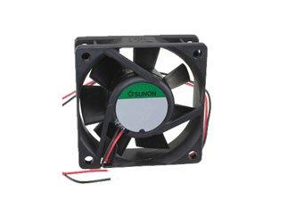 SUNON PE60201B1-000U-A99 P Series 60 x 60 x 20 mm 5000 RPM 27.5 CFM 12 V 2 Wire Lead Ball Bearing Fan - 1 item(s)