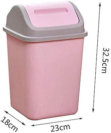 Plastique Yavso Poubelle Salle Bain Corbeille Salle Bureau Cuisine Table 10L Poubelle /à Couvercle Basculant /Ø 32 x 23 x 23 cm