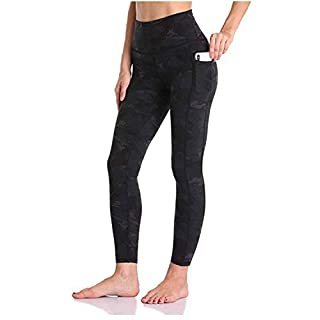 Generies High Waisted Yoga Leggings with Pockets Tummy Control Yoga Pants for Women (Camouflage Black, M)