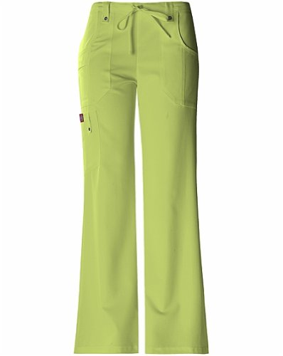 Dickies Medical Scrubs 82011 Women's Jr Fit Drawstring Flare Leg Scrub Pant Sweet Apple Green - Juniors Apple Bottoms Apple
