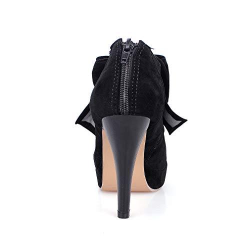 Mariage Talon Studio Femmes Soirée Femme Elegant Plateforme Noir Sexy Escarpins Aiguille Noeud Y2Y f1OTnqxn