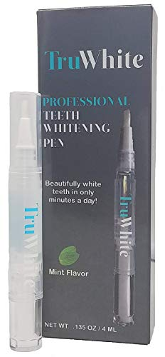 (TrueWhite Teeth Whitening Pen - Active Oxygen & Carbamide Peroxide, 30+ Treatments, 4ML, Zero Sensitivity & Professionally Formulated)