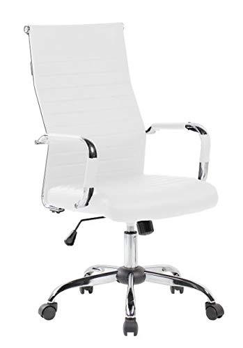NAKURA Silla de Oficina, despacho elevable, con Sistema Lumbar y Sistema de balanceo, Color Blanco