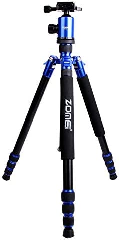 Black Color : Gold Rotations YHM ZOMEI Z888 Portable Professional Travel Aluminium Tripod Monopod with Ball Head for Digital Camera