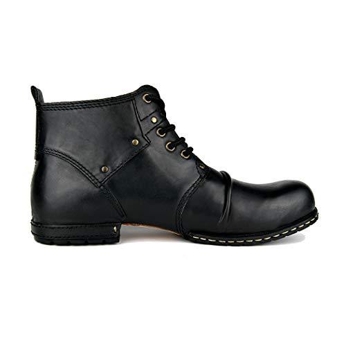 Trekking Bottines Lace Up Casual Black Cuir Fashion Bottes Hommes Haut En Et Chaussures Pour Randonnée PwqPrY