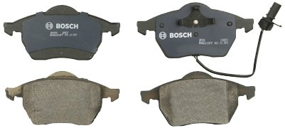 Bosch BP555 QuietCast Premium Semi-Metallic Disc Brake Pad Set For Select Audi 100, 100 Quattro, A4, A4 Quattro, A6, A6 Quattro, A8, A8 Quattro; Volkswagen Golf, Passat; Front