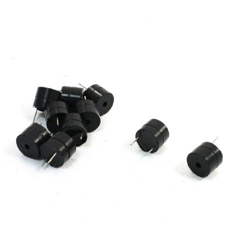 uxcell 10pcs 5V Active Buzzer Magnetic Long Continous Beep Tone Alarm Ringer ()