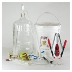 Strange Brew Home Brew Winemaking Kit Strange Brew Home-Brew Winemaking Kit Ultimate Wine Making Equipment Starter Kit with 6 gal Glass Carboy