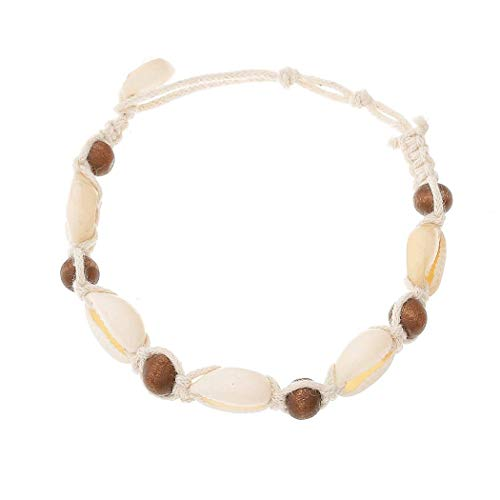 YouCY Boho Anklet Bracelet with Shell Beach Beaded Ankle Chain for Women and Girls