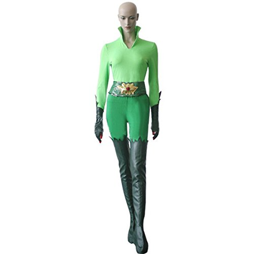 MLYX Women's Batman and Robin Poison Ivy Cosplay Costume Women's Jumpsuits (X-Small) (Poison Ivy Costume Batman)