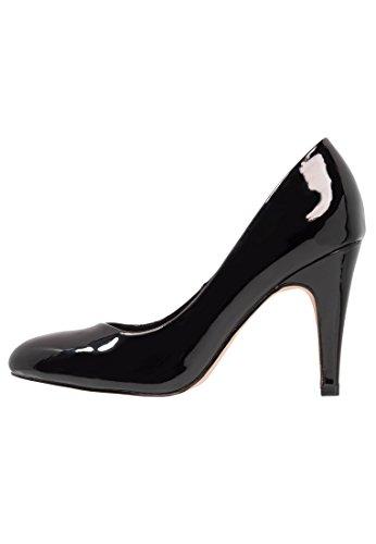 tacco in vernice o pelle scarpe nera Tacchi verniciata Anna nudi bianchi da Field party con donna work grigi eleganti neri Vharol w0OH7q